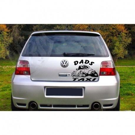 Dad's Taxi car sticker.