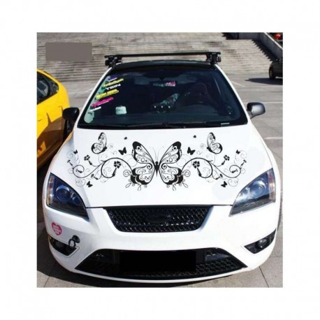 Butterflies and vines, tuning car sticker.
