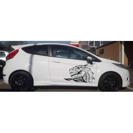 Dragons head as your car doors sticker.