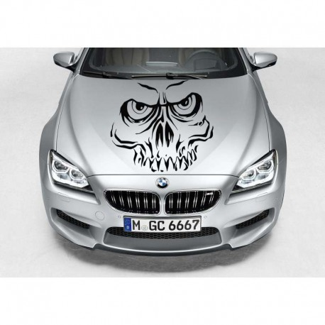 Skull decals for car body tuning, auto bonnet sticker.