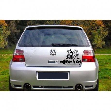 Baby in car auto sticker.