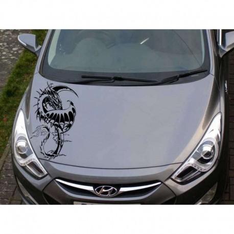 Dragon as car bonnet sticker, dragon car decal.