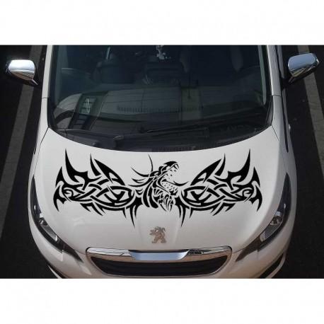 Tribal dragon large car bonnet sticker.