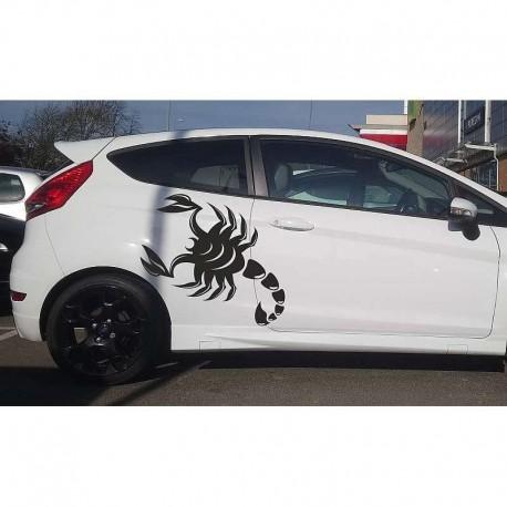 Scorpion auto decal, scorpion car sides sticker.