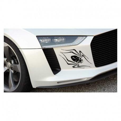 Spider auto decal, spider car bumper sticker.