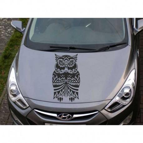 Owl car bonnet sticker, owl car decal.