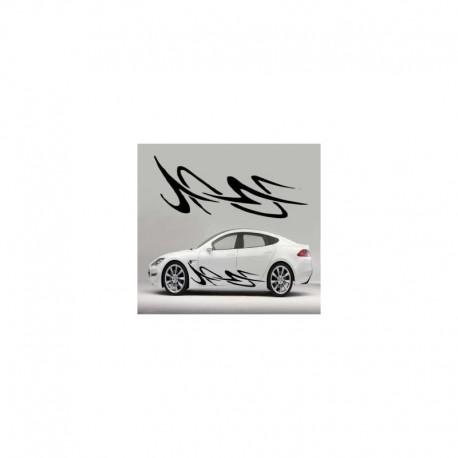 Artistic car tuning, tribal auto sticker.