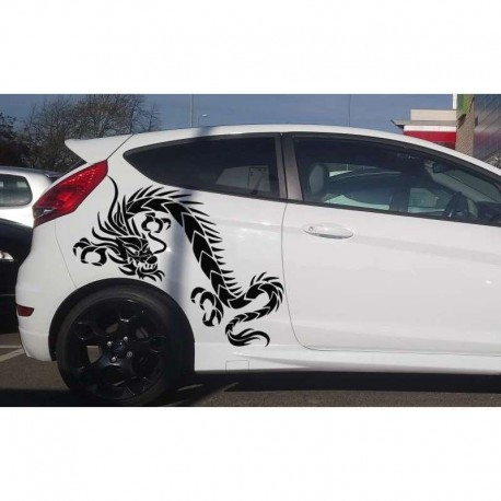 Chinese dragon car doors sticker.