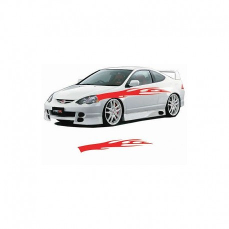 Simple flame car body tuning sticker.