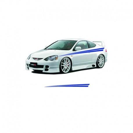 Simple stripes car body tuning sticker.