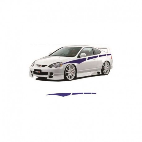 Racing car sides stripes as tuning auto stickers.