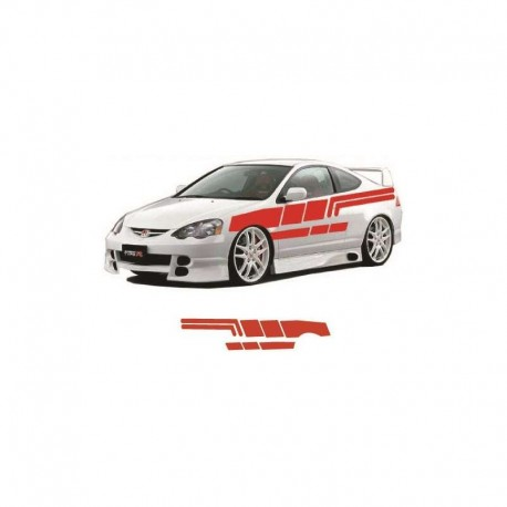 Racing stripes for car body sides stickers.