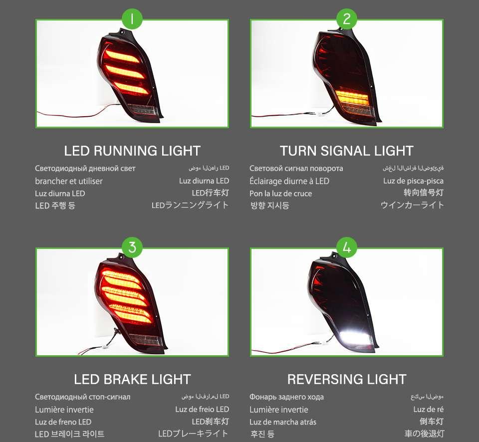 Chevrolet Spark Tail lights 2012-2018