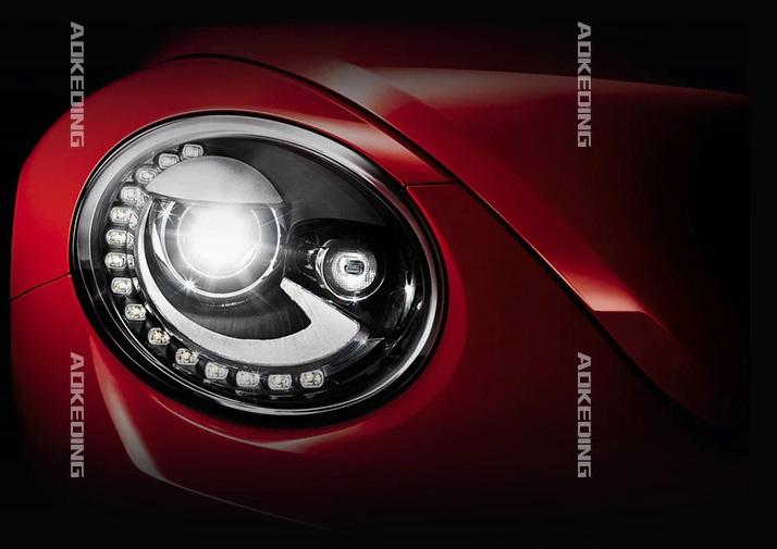 VW Beetle LED headlights
