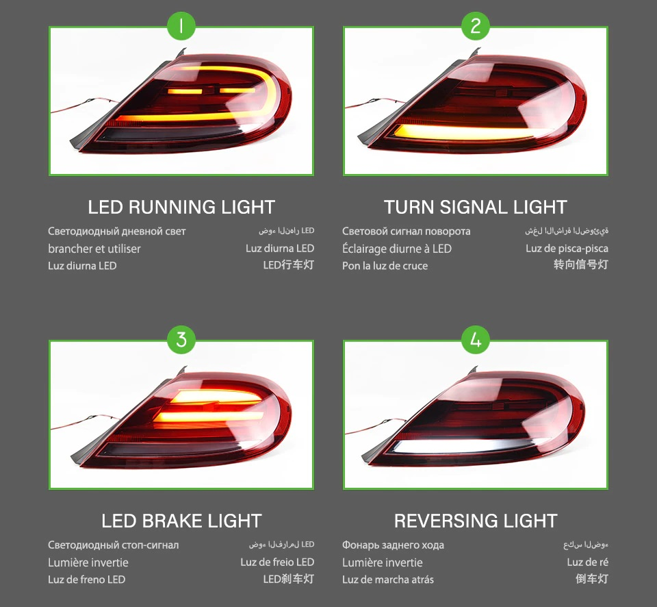 VW Beetle tail lamps