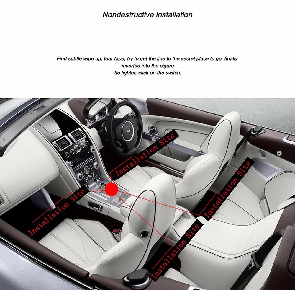 Installation guide for car LED light.