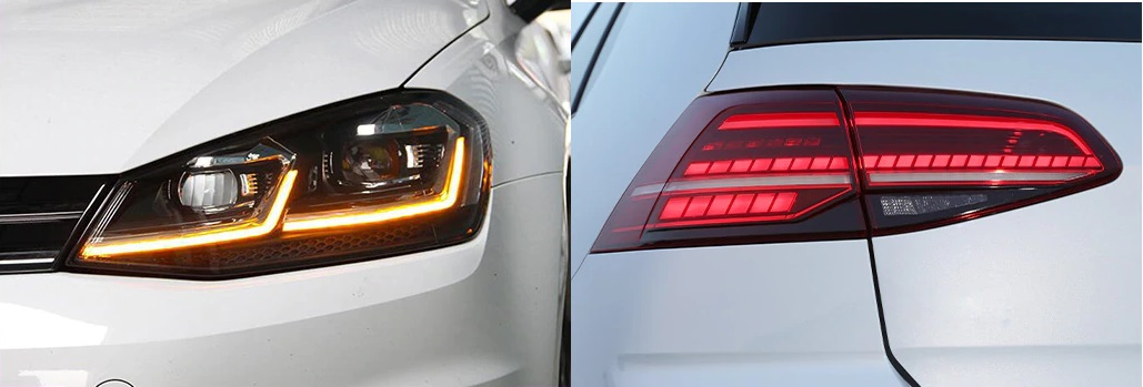 LED VW Golf 7 / 7.5 Headlight and tail lamp.